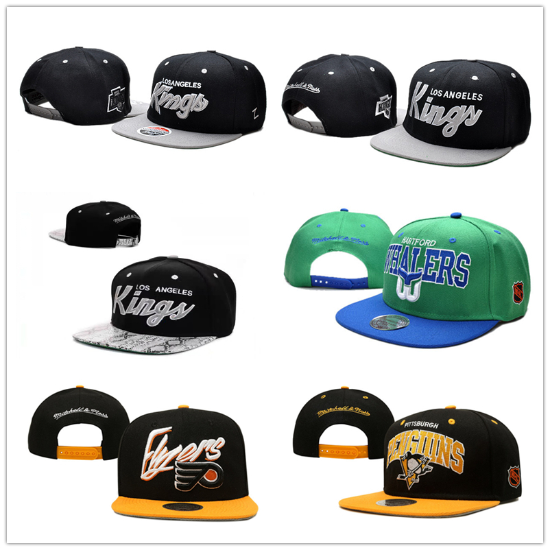 2015 Ice hockey Los Angeles Kings Hats Hartford Whalers Philadelphia Flyers Pittsburgh Penguins Snapback Caps Mens hip hop hat(China (Mainland))