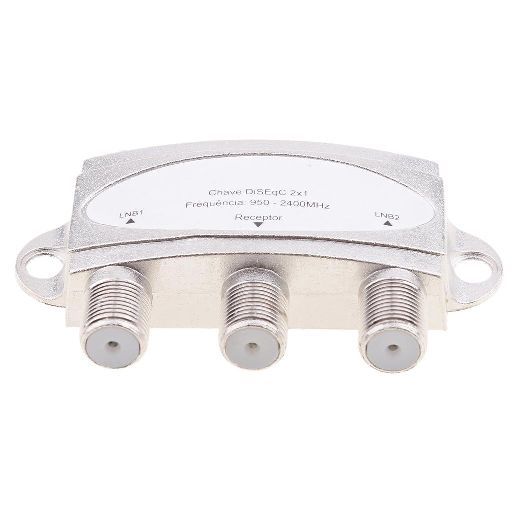 Wideband 2x1 Premium DiSEqC 1.0 2.0 Model Satellite Switch FTA Dish LNBS LNBF Switch DS-04C For Satellite Receiver 950-2400(MHz)