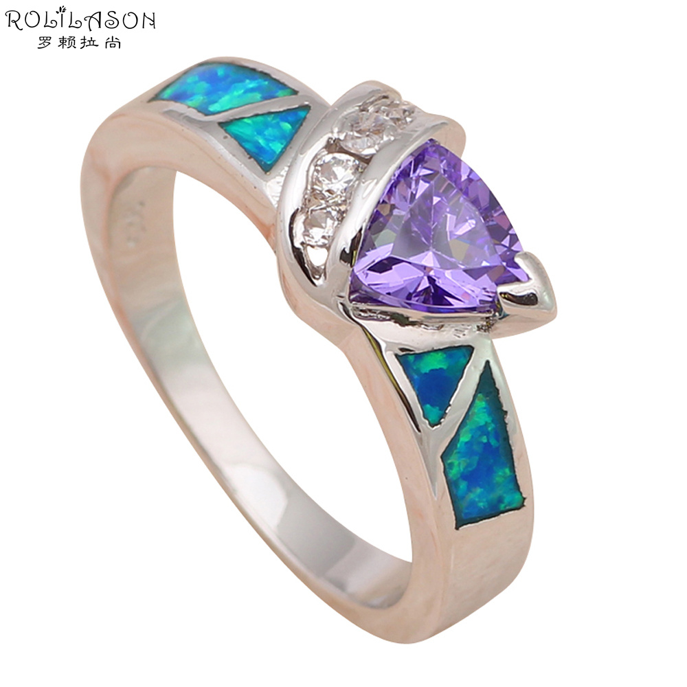Wedding rings for women Wholesale & Retail Fashion Jewelry Blue Fire Opal