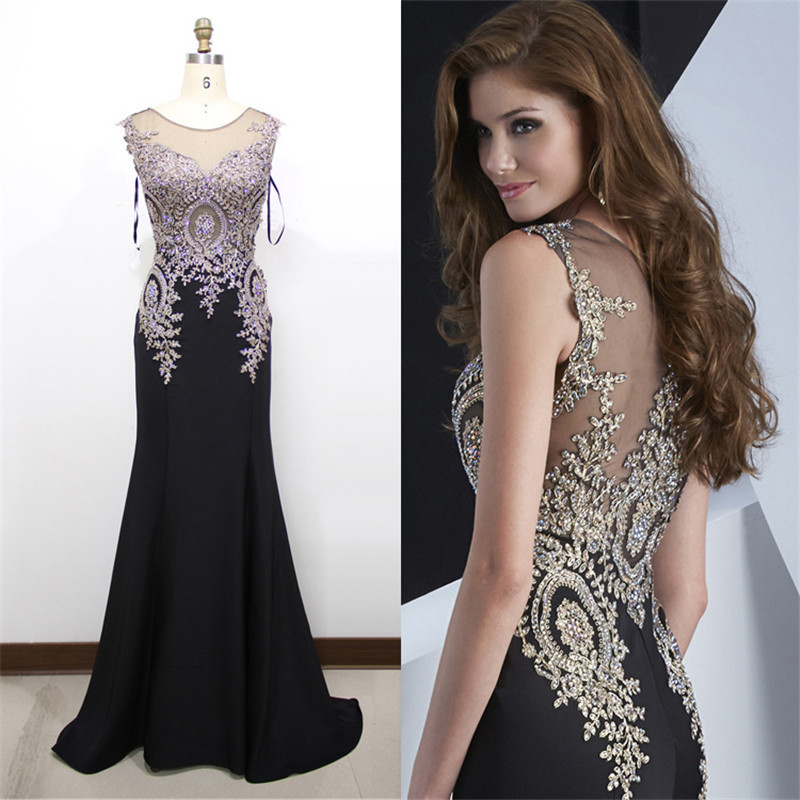 Black Elegant Prom Dresses - Plus Size Grey Dress