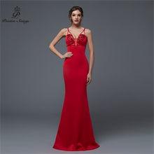บทกวี Songs2019 ใหม่เซ็กซี่บุคลิกภาพ Mermaid ชุดราตรีพรหม gownsParty vestido de Festa Elegant VINTAGE Robe Longue(China)