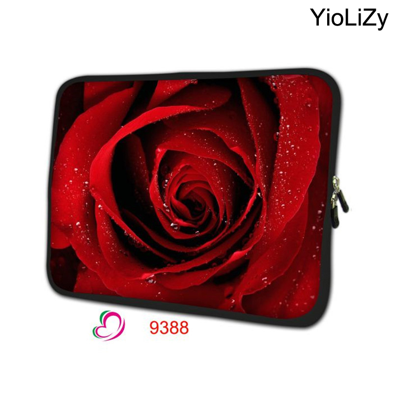 rose notebook liner Sleeve case 7 9.7 11.6 13.3 14.1 15.6 17.3 inch Laptop pouch tablet Bag PC cover computer protector NS-9388(China (Mainland))