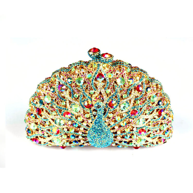 Beta & Tara Animal Peacock-Shaped Women Handbags UK Sale Hard Case Rhinestone Crystal Evening Clutch Bags Fast Shipping - Store of Unique Accessories for iPhone Cell Phone store