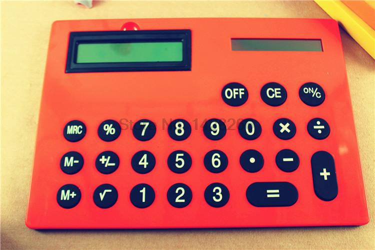 2016 New Office Handheld Calculator Large Solar Big Calculator 8 digits A4 Size 5 Colors Cute Calculadora 0.7kg