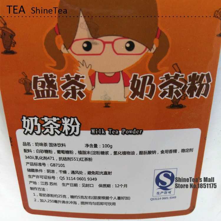 ShineTea Original Instant Tea Bubble Tea with Milk Tea Powder Boba HongKong Style Taste 100g China New – FREE EXPEDITED SHIPPING