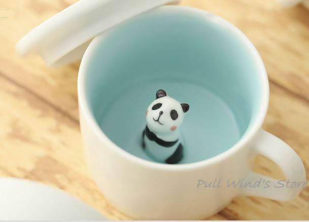 mini cute panda ceramic cup nice wait panda cup custom animal cups creative panda coffee cup. Black Bedroom Furniture Sets. Home Design Ideas
