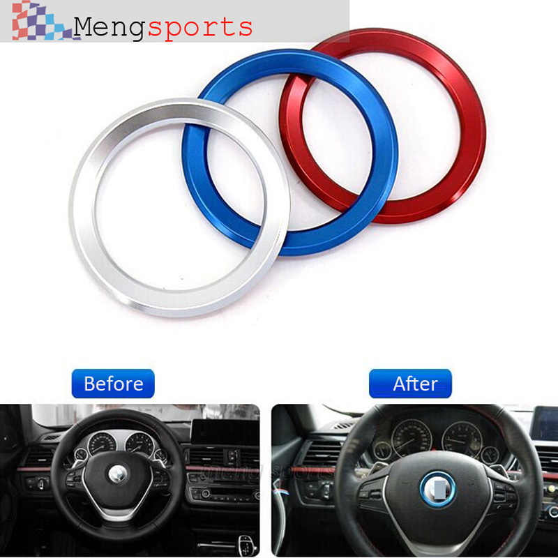 20ps Alloy Car Steering Wheel Center Red SIlver Blue Decoration Ring Cover1 3 4 5 7 Series M3 M5 GT3 GT5 X1 X3 X5 X6 45mm<br><br>Aliexpress
