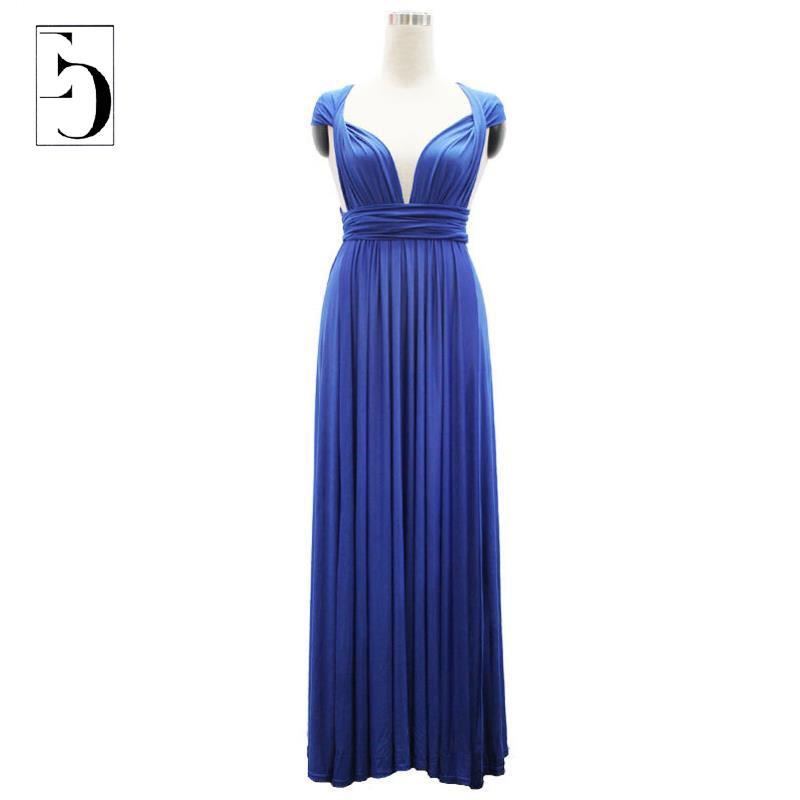Women Summer Dress 2015 Bohemian Beach Maxi Dresses Solid Color M-6XL Big Plus Size Fat Face Many Ways