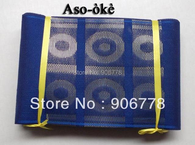 Royal blue color African Aso-Oke head tie,Kente aso oke head wrap,comes with the shawl Guaranteed quality