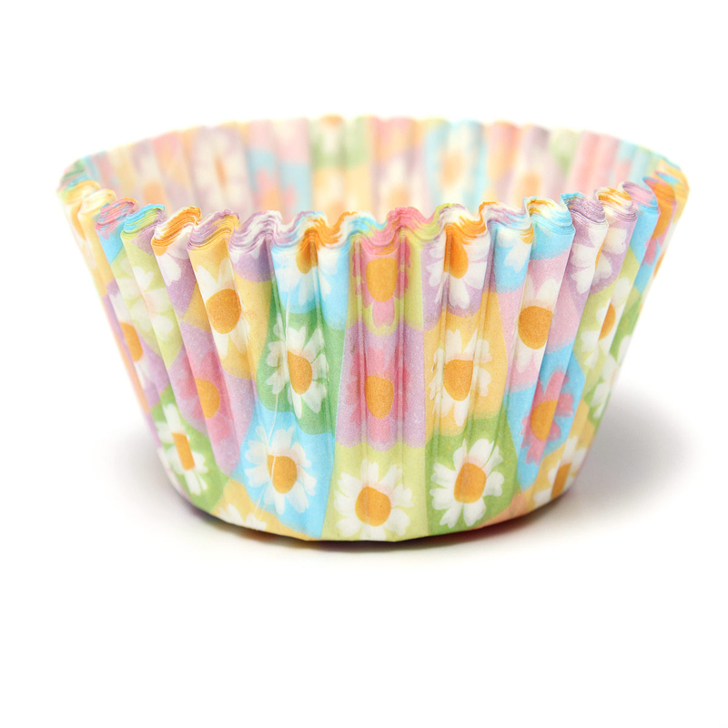100Pcs Colorful Flower Pattern Paper Cupcake Cake Muffin Cup Mold Cases Wedding Party Valentine Decor Stand Wrapper Toppers(China (Mainland))