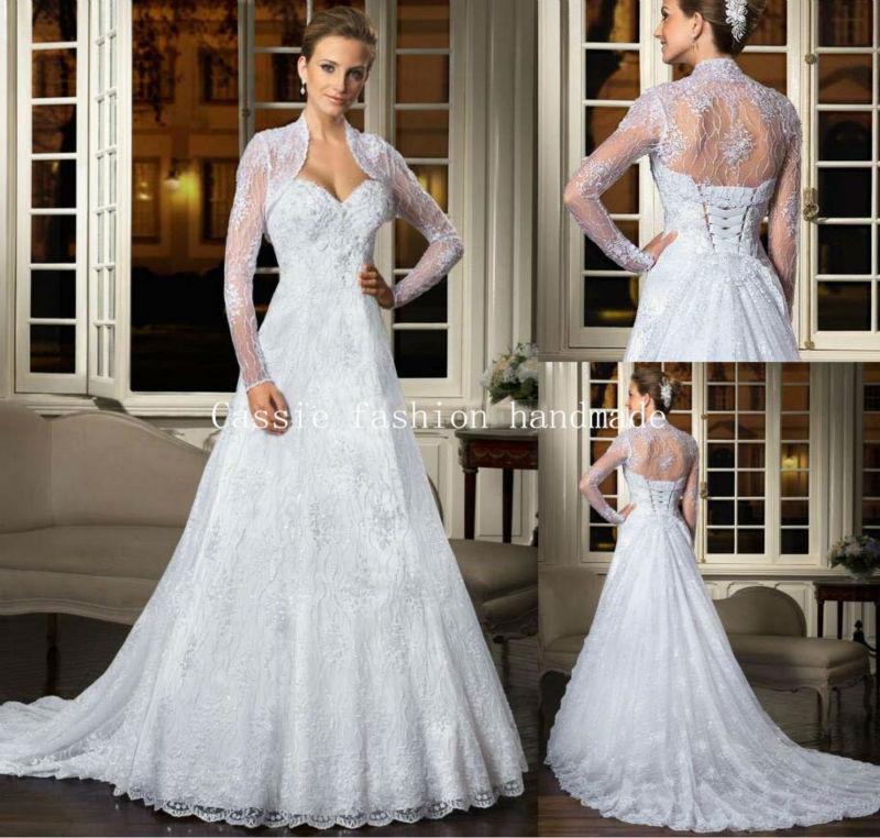 Hot 2015 elegant sweetheart wedding dresses with jacket for Coats for wedding dresses