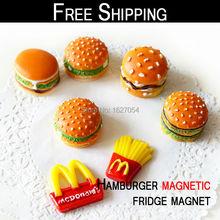 Envío gratis! 1 unids 3 DWall engomadas de la alta calidad hamburguesa imán del refrigerador magnético hamburguesa imanes para la decoración del hogar(China (Mainland))