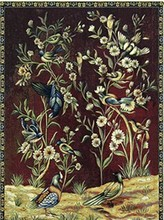 052529   The sitting room home decoration made of pure cotton fine tapestries The birds and flowers (China (Mainland))