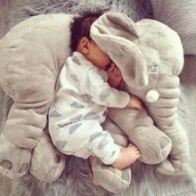 60 CM Gray Elephant Soft PP Cotton Baby Sleep Pillow Portable Bedding Set Crib Car Seat Cushion Kids Infant Stuffed Plush Toys(China (Mainland))