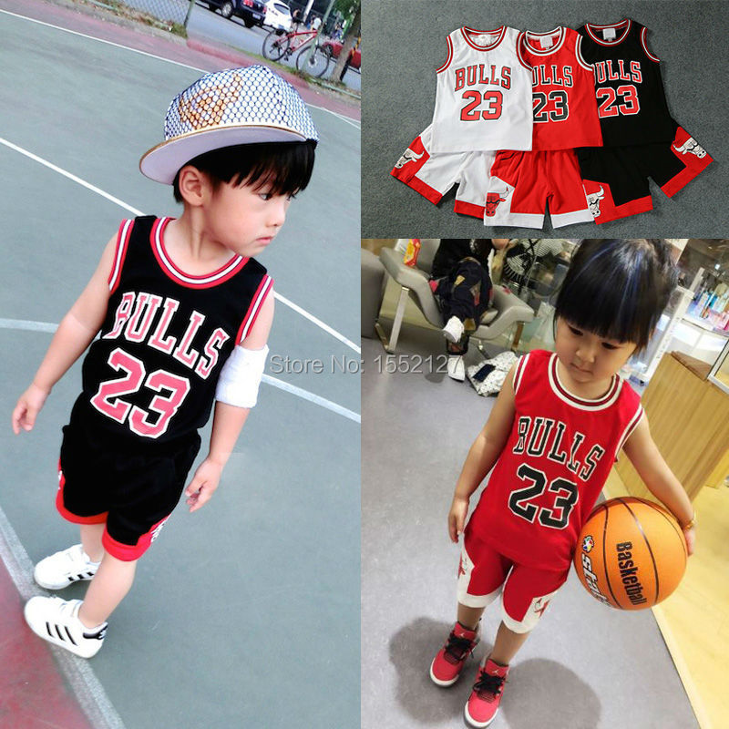 2015 baby kids sport suit breathable eyelet mesh fabric kid basketball jerseys for baby boys and girls wear basketball clothings(China (Mainland))