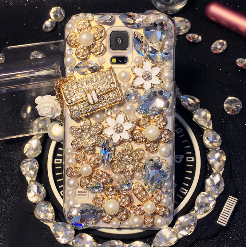 Samsung Galaxy A3 A5 A7 A8 A9 E5 E7 J1 J2 J3 J5 J7 2016 Handmade Luxury Rhinestones phone case Crystal cover Bag Style