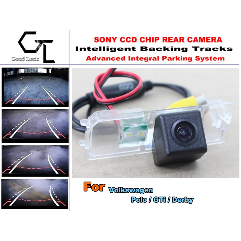Directive Parking Tracks Camera For Volkswagen VW Polo / GTi / Derby Rear View Back Up Camera High Quality Car Electronic(China (Mainland))