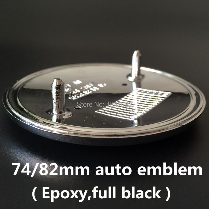 High quality DHL 100pcs 82mm/74mm Epoxy full black  front rear badge hood trunk logo car emblem badges auto accessories<br><br>Aliexpress