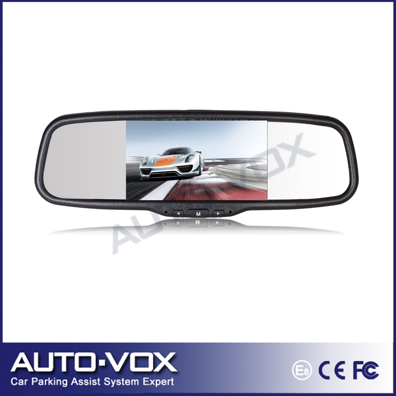 "Фотография Free shipping Brand New 5"" TFT-LCD Rear View Mirror Car Monitor 2 Video Input with OEM Bracket"