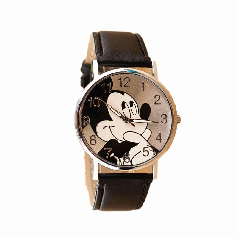 Casual Lovely Mickey Watch For Kids Women Ladies PU Leather Cartoon Watches Dress Quartz Wristwatch Relogio Feminino Reloj Mujer(China (Mainland))