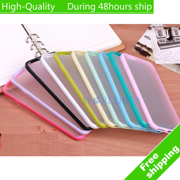 """High Quality Matte Clear TPU Bumper Hard Case Skin Cover For iPhone 6 Plus 5.5"""" Free Shipping(China (Mainland))"""