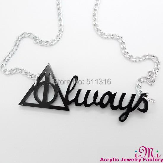 Harry Potter  ALWAYS Acrylic Pendant Necklace<br><br>Aliexpress