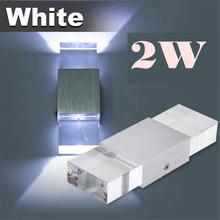 2 w 95-265 v 300lm ha condotto la luce della parete su e giù applique da parete moderna lampada da parete in alluminio per piazza gradino comodino camera da letto di casa bianco  (China (Mainland))