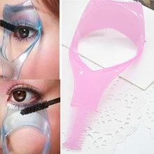 1 Pcs Makeup 3 in 1 Mascara Eyelash Curler Lash Comb Guide Cosmetic Make Up Eye Lash Tools Useful Hotting(China (Mainland))