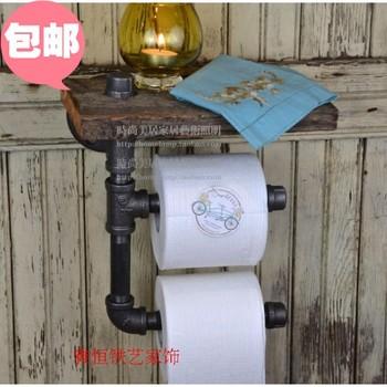 american retro tag res en bois bois enrouleur support de papier toilette r tro pipe racks. Black Bedroom Furniture Sets. Home Design Ideas