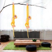 60 cm Kawaii Braço Longo Macaco de Cauda Cortinas Bebê Dormir Apaziguar Boneca de Pelúcia Brinquedos de Pelúcia Animais Boneca Presentes de Aniversário 10 cores(China)