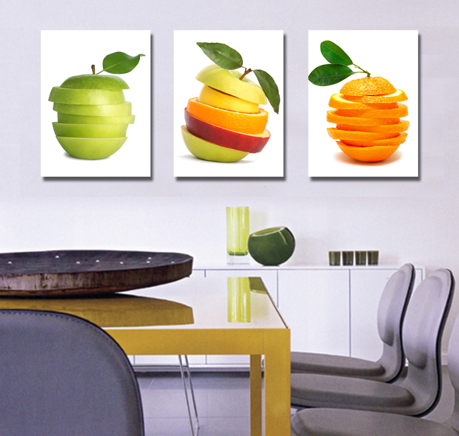 2015 new printed spray painting wall pictures for kitchen