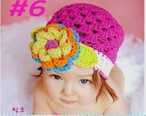 50pcs Hand crochet baby cap and hat Beanie hat 20 designs for choice Toddler hat Children hat Fashion popular baby cap and hat