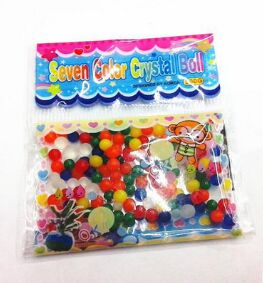 10bags seven color Crystal ball water beads growing water balls(China (Mainland))
