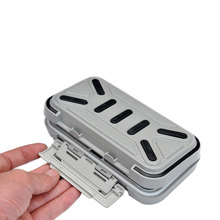Top Quality! Waterproof Plastic Impact Resistant Fly Fishing Box Fishing Tackle Box Spinner Bait Minnow 16.5 * 9.3 * 4.5cm(China (Mainland))