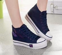 2015 canvas shoes within the higher spring and autumn new Korean high to help student sneakers