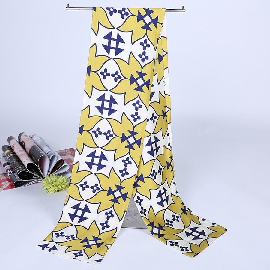 New Fashion scarf Yellow color square and comfotable soft scarf women high quality retror style shawls and scarves hot selling(China (Mainland))