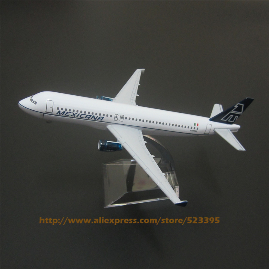 16cm Metal Airplane Model Air MEXICANA Airlines A320 Airbus 320 Aircraft Airways Plane Model W Stand Toy Gift(China (Mainland))
