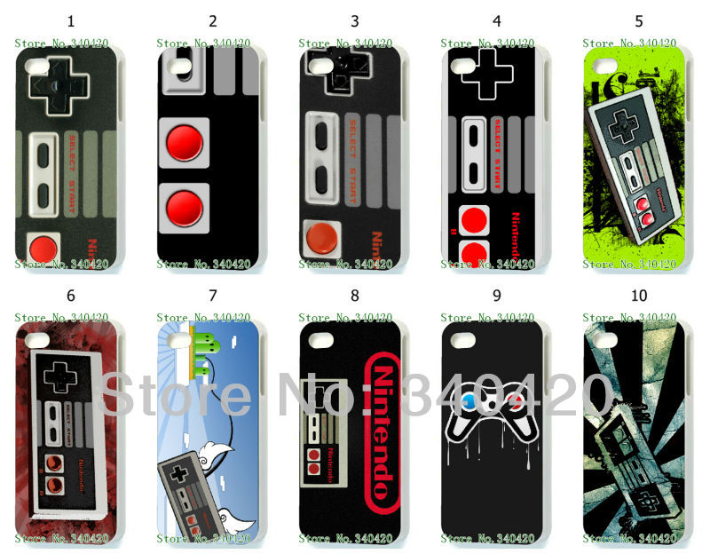 2014 Free shipping Hot Game 10pcs/lots New wholesale NIlNTENDUO CONTROLLER NES hard white case for iphone 5 5S(China (Mainland))