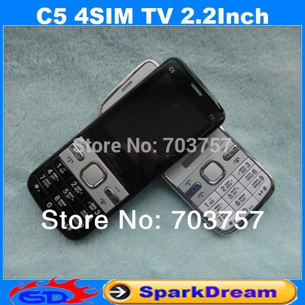 Мобильный телефон OEM C5 4SIM Bluetooth FM 2,2 egg steamer multi function chicken type