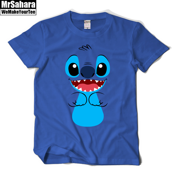 Stitch boy 39 s performance t shirts short sleeve diy classic for Drop ship t shirt printing