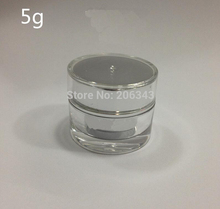 5g shiny Silver ACRYLIC cylinder shape cream bottle,cosmetic container,,cream jar,Cosmetic Jar,Cosmetic Packaging - all packing you want store
