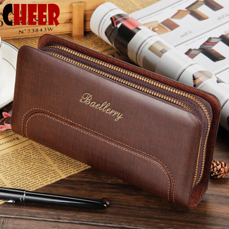 Men wallets 2016 luxury brands men's clutch bag wallets handbags men black brown fashion business style multi-function purse bag(China (Mainland))
