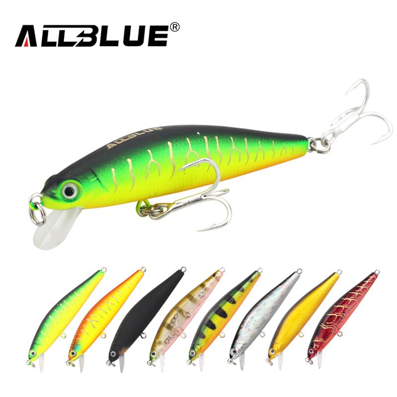 ALLBLUE Suspend Minnow 70mm 6.5g 1M Dive Artificial Bait Plastic Hard 3D Eyes Fishing Lures Wobbler Fishing Bait Fishing Tackle(China (Mainland))