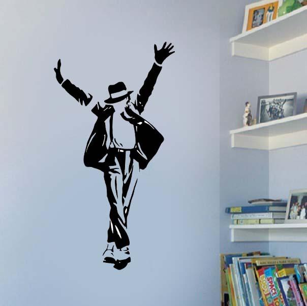 Modern celebrity silhouette michael jackso jackson dance for Jackson 5 mural