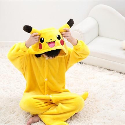 New kids pikachu pajamas Anime Pocket Monster costume Carton Animal onesies for boys/girls cosplay pajamas children sleepwear(China (Mainland))
