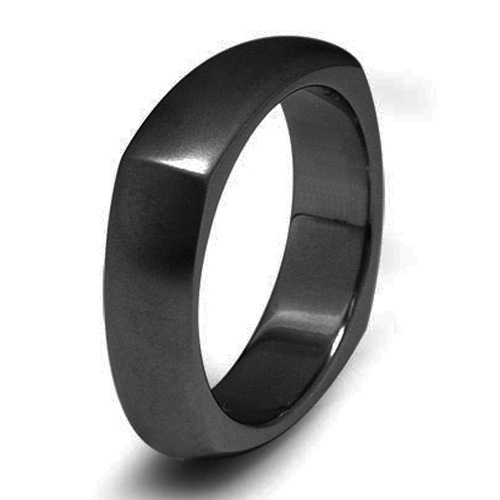 Tailor Made Black IPB Titanium Square Ring Size 3 -18 whole, half & quarter (#TR19B)(China (Mainland))
