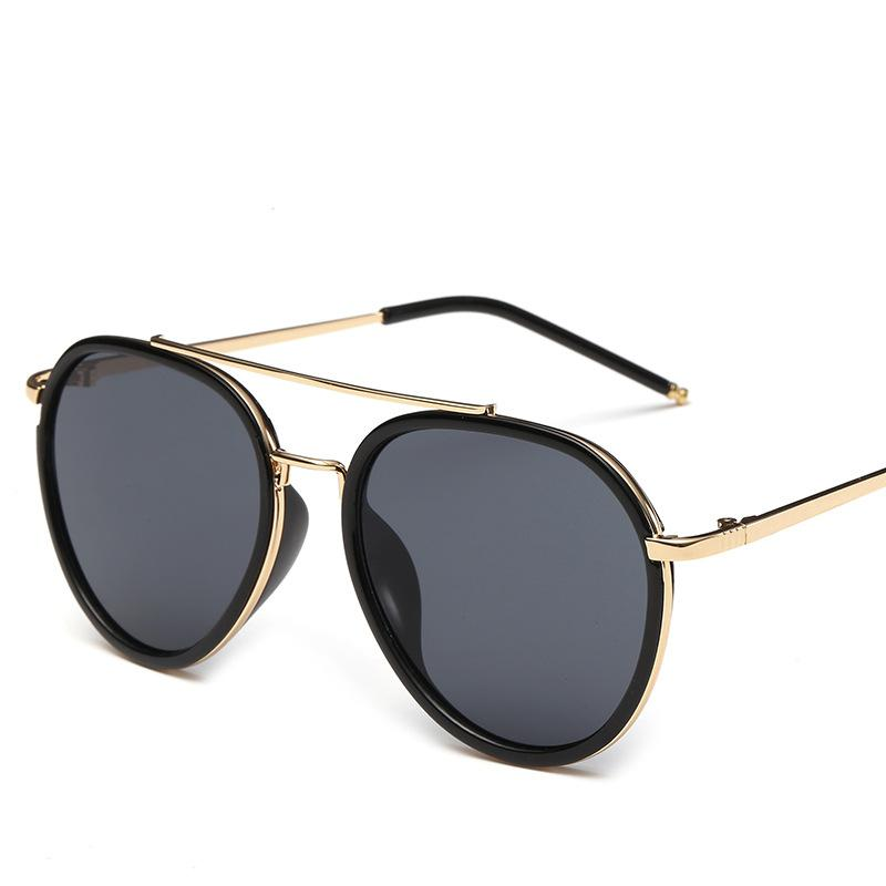 2016 Oval Sunglasses Women New Famous Luxury Brand Sunglass Retro Metal Frame High Quality Sun glasses Oculos De Sol Feminino(China (Mainland))
