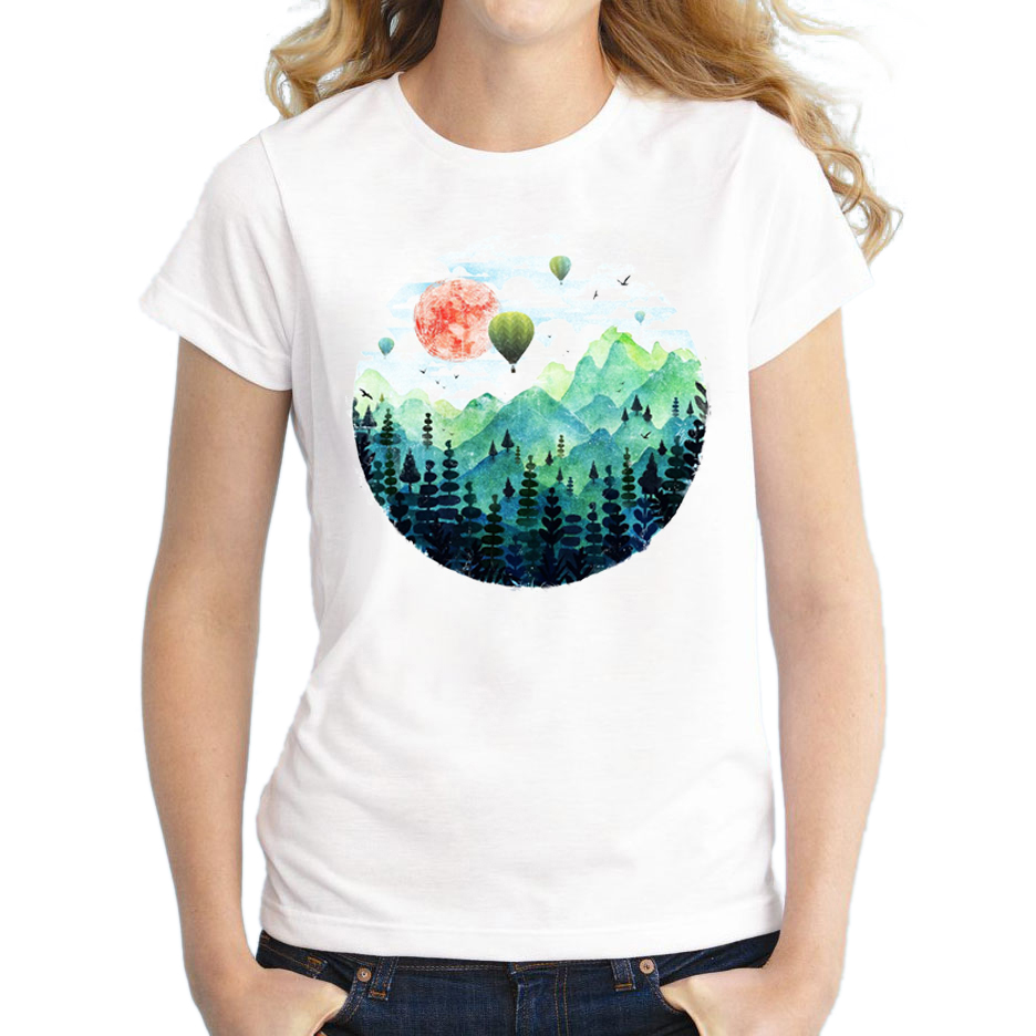 Wholesale summer shirts hot air balloon t shirt women o for Best t shirts for summer