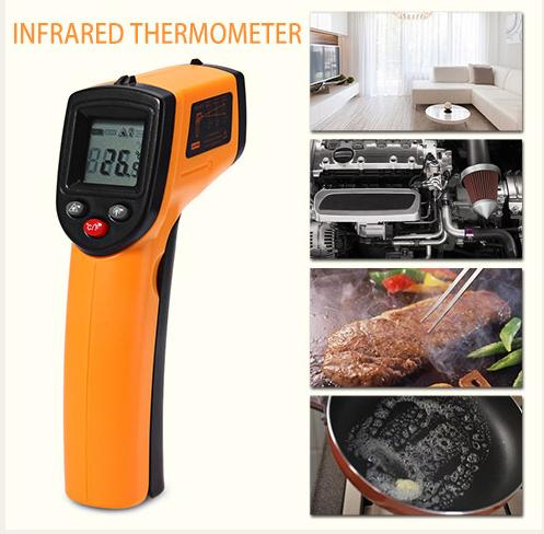 1 Pcs GM320 Laser LCD Digital IR Infrared Thermometer Temperature Meter Gun Point -50~330 Degree Non-Contact Thermometer(China (Mainland))