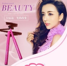 New Natural Waterproof Longlasting Shadow Eyebrow Pencil Kit Eye Brow Pen Make Up Liner Powder Shaper Cosmetic Makeup Tool(China (Mainland))